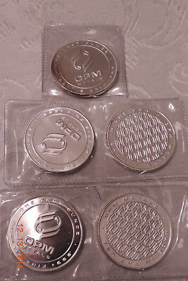 1 Troy oz. OPM .999 Fine Silver Rounds (lot of 5)