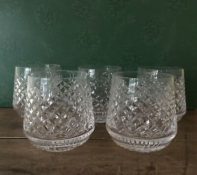 SET OF FIVE - Waterford Crystal ALANA Roly Poly Glasses