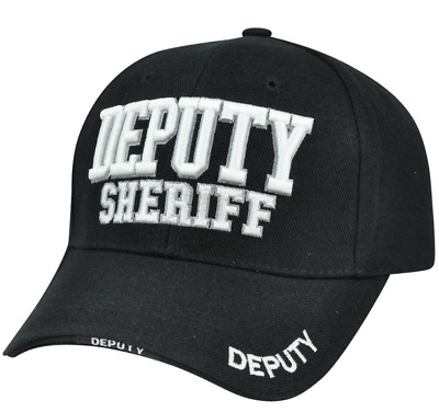 Deputy Sheriff County Law Enforcement Police Constructed Curved Bill Hat Cap