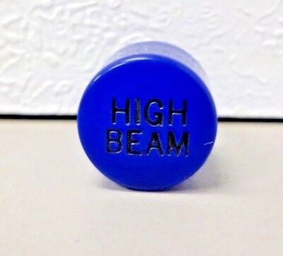 Peterbilt Dashboard Indicator Lens BLUE HIGH BEAM 9/16-27 Thread
