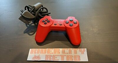 Official Original Red Sony Playstation 1 (PS1) Controller Pad Good Condition