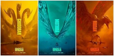 "Godzilla King of the Monsters Movie Poster 40x27 36x24 18x12"" Art Decor"