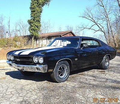 1970 Chevrolet Chevelle 454 AUTO PS PDB TACH FACTORY BLACK 1970 CHEVELLE SS 454 AUTO 12 BOLT PS PDB TACH BEAUTIFUL FACTORY TUXEDO BLACK