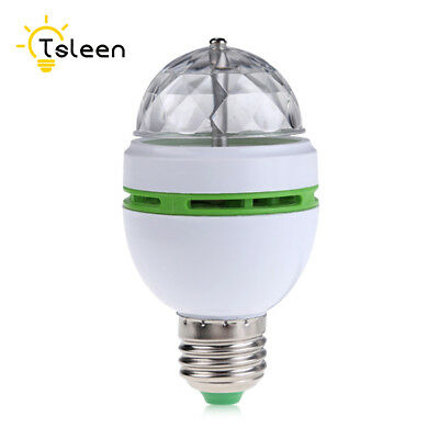 Full Color E27 Changing Auto Rotating Mini LED Stage Party Dance Light Bulb Lamp