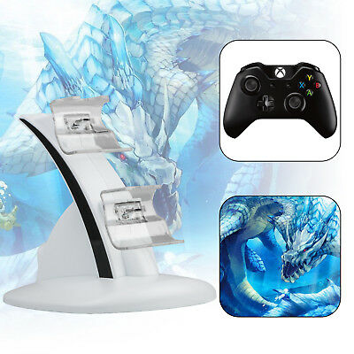 Dual USB Charging Dock Docking Station Stand for Xbox One/Xbox One S Controller