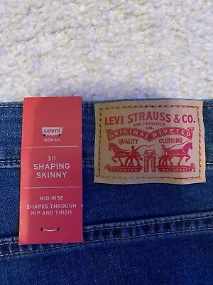 NEW LEVI S WOMENS Medium 721 0056 High Rise Skinny Stretch Denim ... 7b21928b157