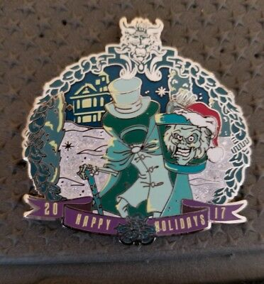 DLR Haunted Mansion Hatbox Ghost Happy Holidays 2017 AP Pin LE 500 ARTIST PROOF