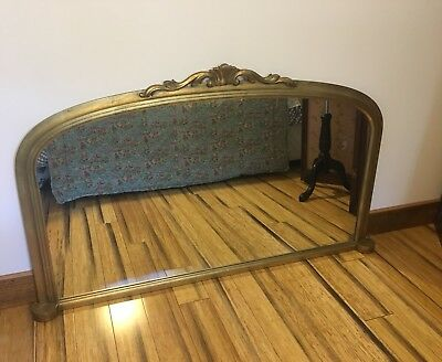 Large Gold Mirror French Style Mirror Over Mantle Mirror