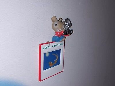 ENESCO Treasury of Christmas Ornaments 1989 Caught in the Act Mouse with Camera