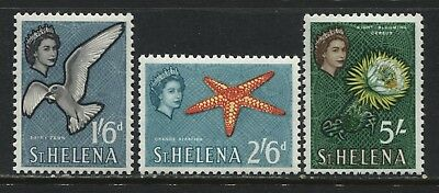 St. Helena QEII high values 1/6d, 2/6d, and 5/  mint o.g.