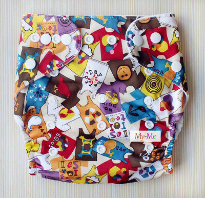 Baby Boy Girl Cloth Diaper One Size Adjustable Hip Snaps Nappy Pocket Cover H09