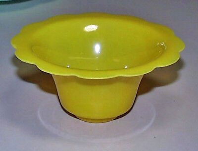 Best Antique Imperial Yellow Chinese Peking Glass Lotus Design Top Bowl