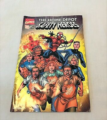 Marvel SPIDERMAN FANTASTIC FOUR Safety Heroes 1st Ed HOME DEPOT Promo COMIC BOOK