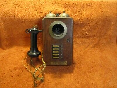 Vintage Holtzer - Cabot Electric Co. Theater Wall Phone.