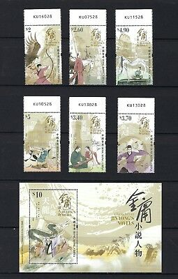 China Hong Kong 2018 金庸 小說人物 郵票 Stamps Characters in Jin Yong's Novels NO