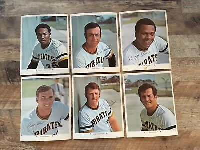 Vintage Lot Of (6)1971 ARCO 8x10 Photos Of The Pittsburgh Pirates