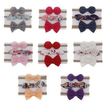 3pcs/Set Lovely Toddler Baby Girls Bow Headband Hair Band Headwear Accessories
