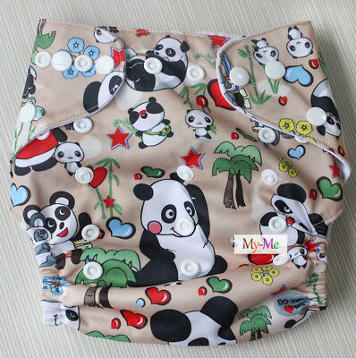 Baby Boy Girl Cloth Diaper One Size Adjustable Hip Snaps Nappy Pocket Cover H56
