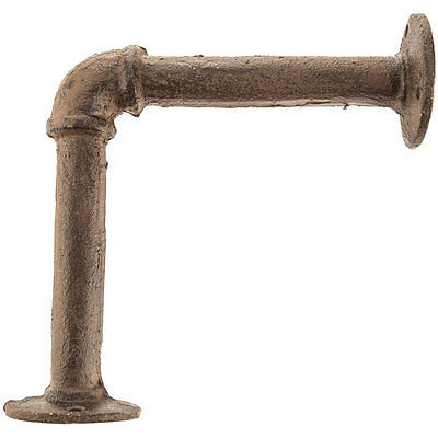 Brown Cast Iron Pipe Bracket   SET OF TWO