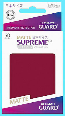 60 ULTIMATE GUARD SUPREME UX ROYAL BLUE JAPANESE Card SLEEVES Deck Protector CCG