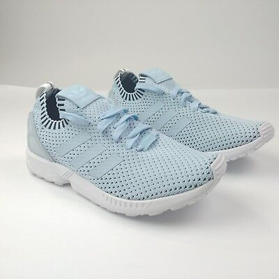 b1f1837d51af5 NEW Adidas ORIGINALS MEN S ZX FLUX PK Primeknit Sneakers Ice Blue S75973 Size  10