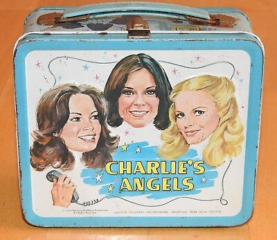 Vintage 1978 Metal Charlie's Angels Lunchbox Aladdin No Thermos Lunch Box