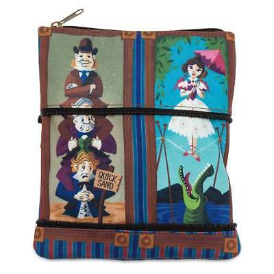Disney Parks Stretch Room Paintings Haunted Mansion Zip Pouch New with Tags