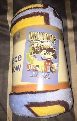 New Disneyland Resort Mickey Mouse Fleece Throw Blanket 40x60