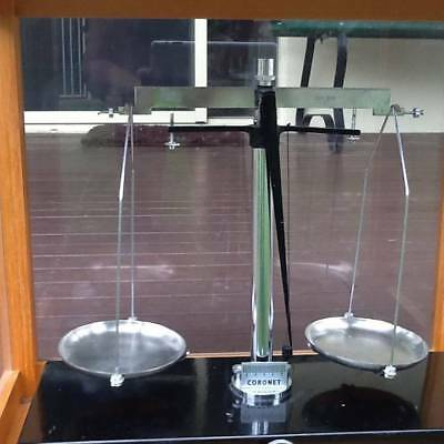 Weighing  Scales Antique in Glass Cabinet