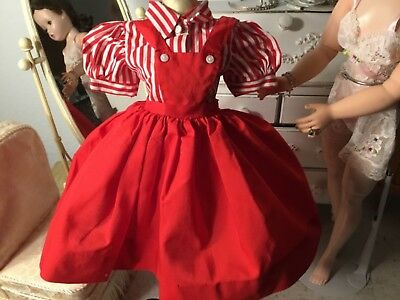 Vintage Madame Alexander Cissy 1955 red jumper and blouse - Awesome! No doll Sup