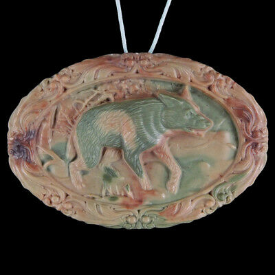 Carved Wolf Bead C ED504062