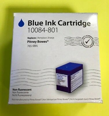 Pitney Bowes Blue Ink Cartridge 10084-801 Boxed and Sealed -Franking Machine Ink