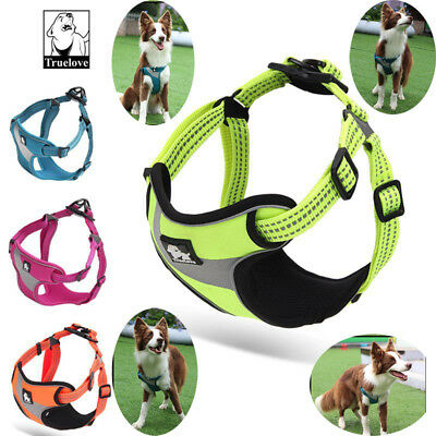 Truelove Dog Harness No-pull Adjustable Widening Reflective Padded Vest All Size