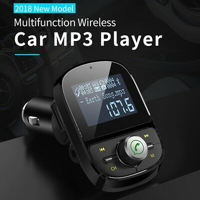 FM Transmitter Bluetooth Hands-free Car Kit MP3 Player USB Charger 2018