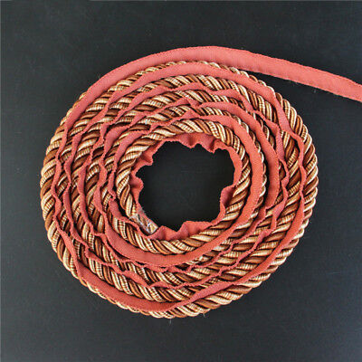 Upholstery Flanged Piping Cord Twist Rope Trim Cushion Gimp 1cm 12.5m Long Multi