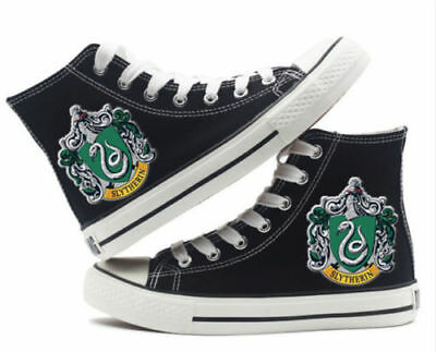 Muggle Harry potter Slytherin High top Canvas Flat Shoes Casual Sneaker Shoe