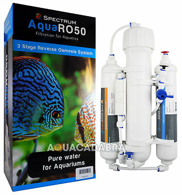 SPECTRUM AQUA RO 50gpd REVERSE OSMOSIS 3-STAGE WATER FILTER AQUARIUM FISH TANK