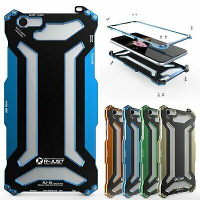 R-JUST Aluminum Shockproof Back Case Cover Armor Protector For iPhone 6 6S Plus