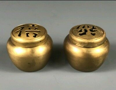 A Pair Of Small Contemporary Chinese Bronze Censers