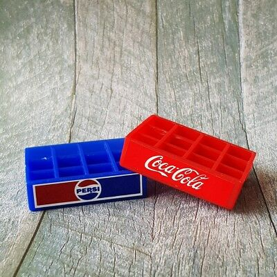 Coca Cola Coke Pepsi Tray Dollhouse Miniatures Food Soda Drink Beverage Decor