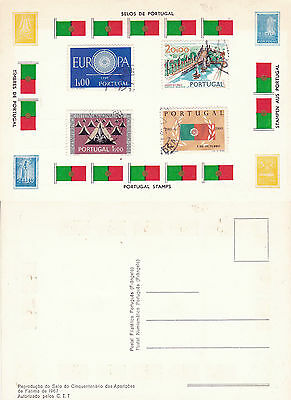 Stamps Of Portugal On An Unused Colour  Postcard