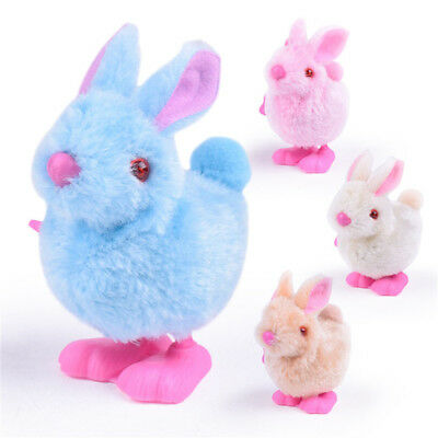 Pluh Bunny Toys Infant Child Stuffed Toys Hopping Wind Up Collect Easter GOOD