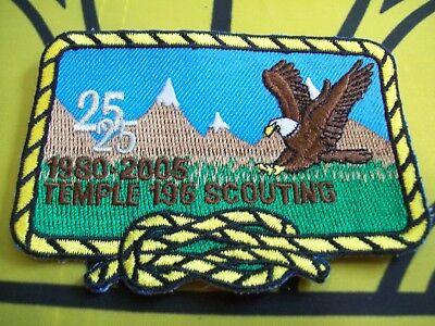 Canadian Scout Badge Temple 196 Scouting 25 years