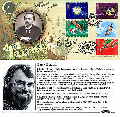 20 August 2002 Peter Pan Benham Blcs Signed Brian Blessed First Day Cover Shs