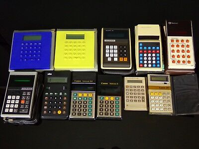 Lot 11 calculatrices lcd led vintage rétro 70's 80's