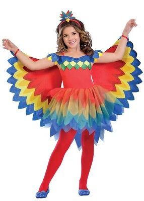 Childrens Pretty Parrot Girl Costume