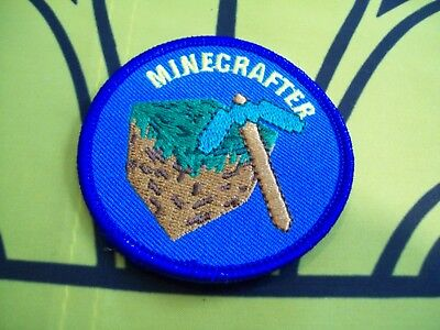 Canadian Scout Badge Blue Minecrafter