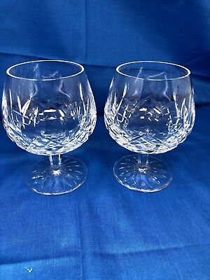 Pair of Waterford Crystal Lismore Brandy Snifters Glasses (3 Sets Available)