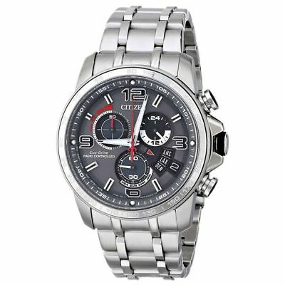NEW Citizen Chrono Time A-T Grey Dial Stainless Steel Men's Watch BY0100-51H