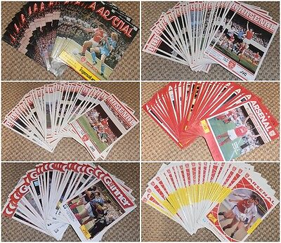12 x 1980's ARSENAL HOME PROGRAMMES - Your Choice - FREE POSTAGE